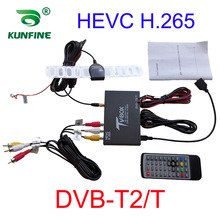 Auto Car TV Signal Box DVB-T/T2 Car Mobile Digital TV Box Receiver HEVC H.265 TV Tuner Box Germany Europe DVB-T DVB-T2