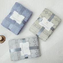 Algodão de bambu ar condicionado quilt verão toalha colcha ar condicionado confortável à prova de vento sofá cobertor 200x230cm