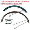 Stainless Steel Bicycle Fender 12 14 16 18 20 26 27 Inch Mudguardfor MTB Bike Wings Front And Rear Mud Guard  Bikes Accessories