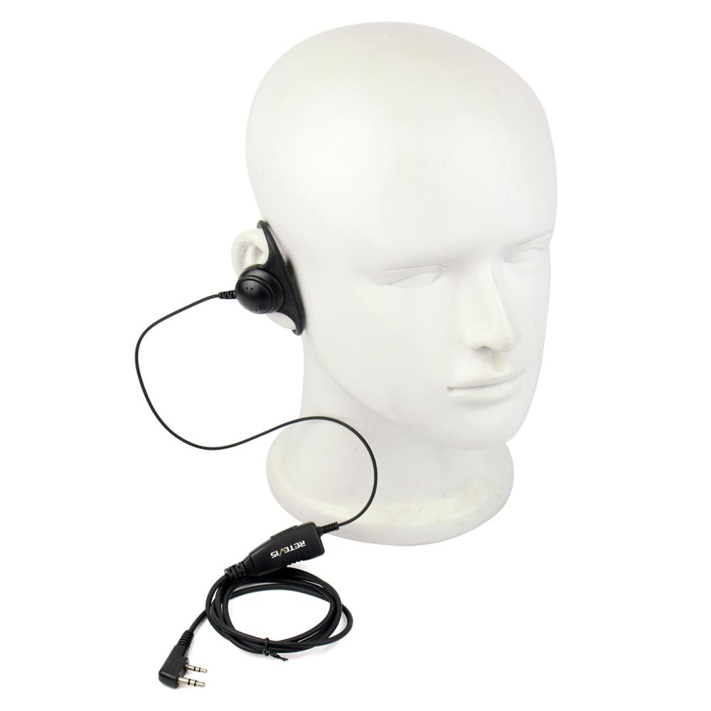 Retevis K-316 D Shape 2Pin Soft Ear Hook Earpiece Headset Microphone For Retevis Baofeng Kenwood H-777/RT-5R/RT1/RT2/RT5 /888s