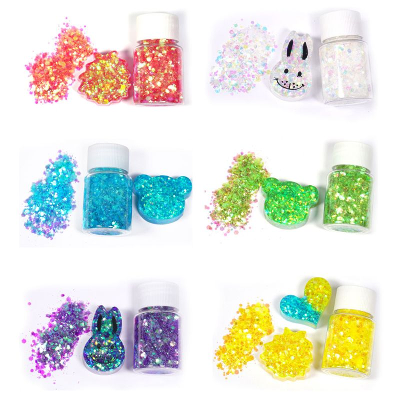 Shiny Mixed Glitter Sequins DIY Crystal Epoxy Resin Mold Fillings Jewelry Making T4MD