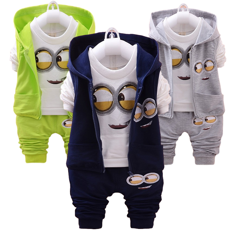 Hot Style 2020 Spring Baby Girls Boys Suits Mignon / Newborn Clothing Set Kids Vest + Shirt + Pants 3 Pcs. Sets Children Suits