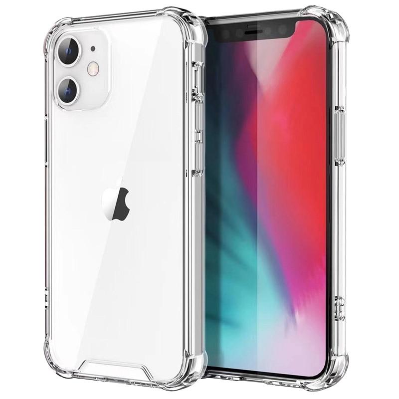 Custodia protettiva in Silicone antiurto per iPhone 12 11 Pro Xs Max custodia protettiva per fotocamera iPhone X Xr 6s 6 7 8 Plus Cover posteriore 1