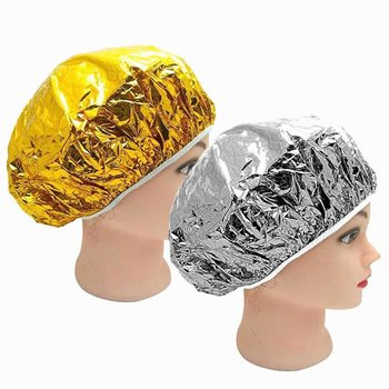 Shower Cap Disposable Aluminum Foil Waterproof Bath Hoods Baking Oil Hair Silver Golden