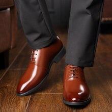 Мужские кожаные туфли в итальянском стиле на каблуке 6 см; Классические