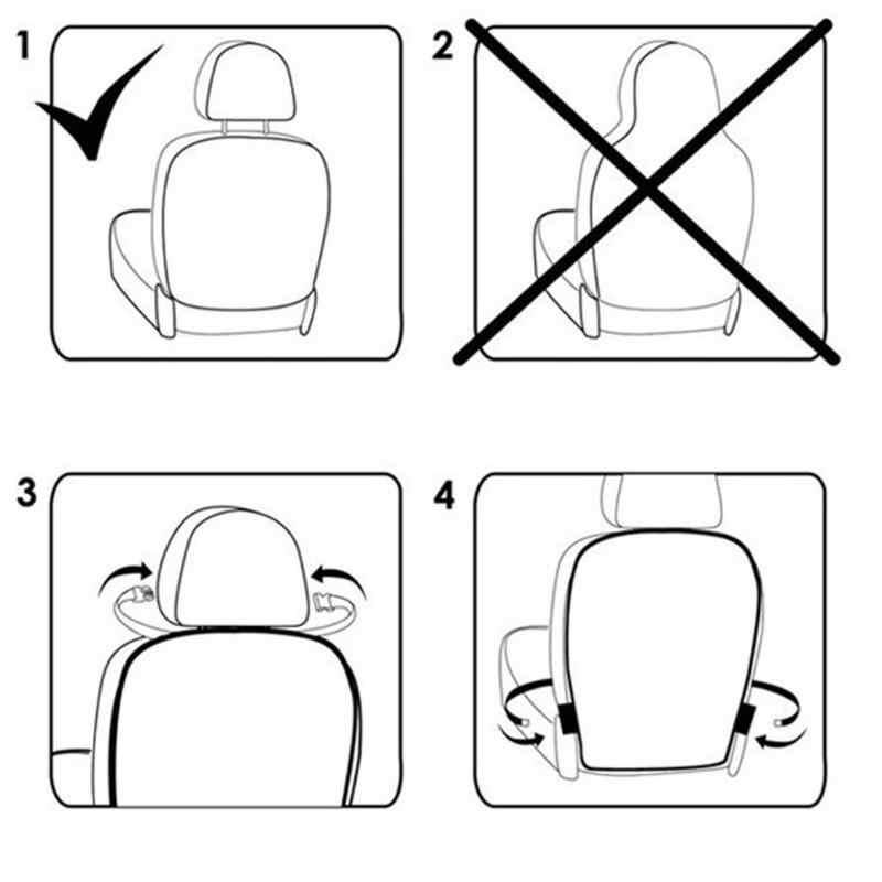 Assento de carro Tampa Traseira Protetor Para Crianças dos miúdos Do Bebê Mat Pontapé De Lama Limpa Sujeira Protetor de Assento de Carro Cobre Auto capa Promoção