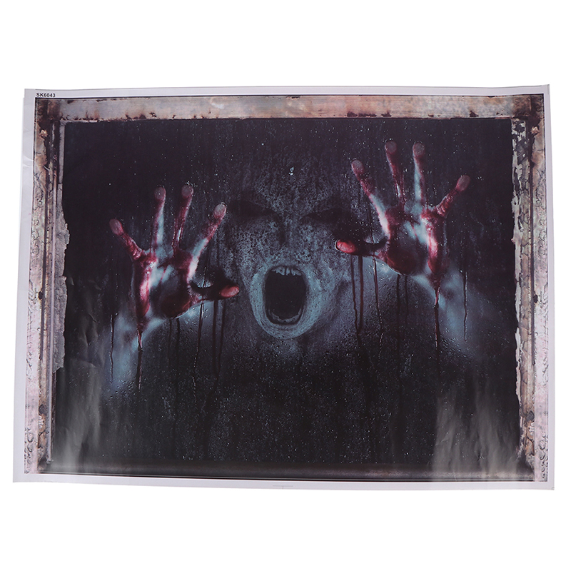 Halloween Decorations 3D Ghost Wall Window Sticker Removable Horror Decal Poster Car Stickers