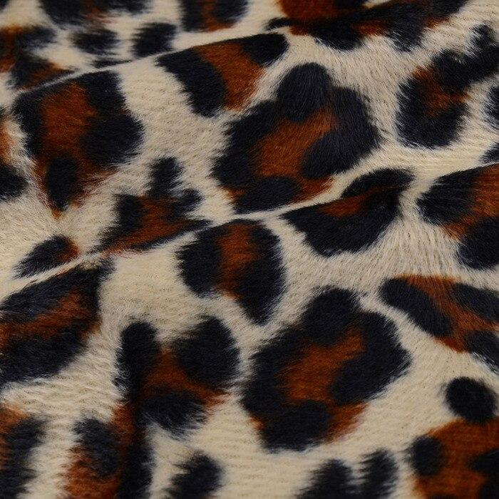 Feminino senhora grossa leopardo impressão manga comprida