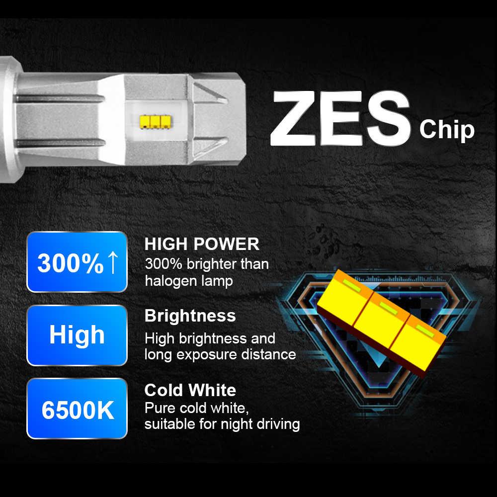 2 個ミニ H4 Led H11 Lumileds 社 ZES 6500 18K LED 10000LM 60 ワットランパーダ 9003 H8 H7 電球 HB3 9005 9006 HB4 車ヘッドライト電球自動ランプ