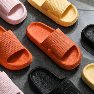 2020 Thick Sole Home Women Slippers 4.5cm Heel Ladies Platform Flat Shoes Non-slip EVA Living Room Indoor Slides Women Slippers