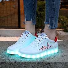 KRIATIV EU30-44 2019 Winter New LED Shoes Luminous Sneakers Light Up Slippers Ch