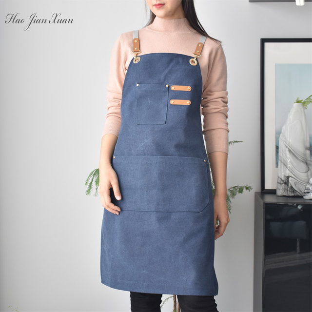 Unisex Canvas Kitchen Aprons For Home Chefs 2