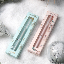 Never Christmas Pen Metal Gel Pens 0.5mm Writing Pen with Cute Elk Pendant School & Office Supplies Girls Gift Stationery never watercolor collection cards set desktop calendar schedule foil post with gel pen acrylic base creative gift stationery