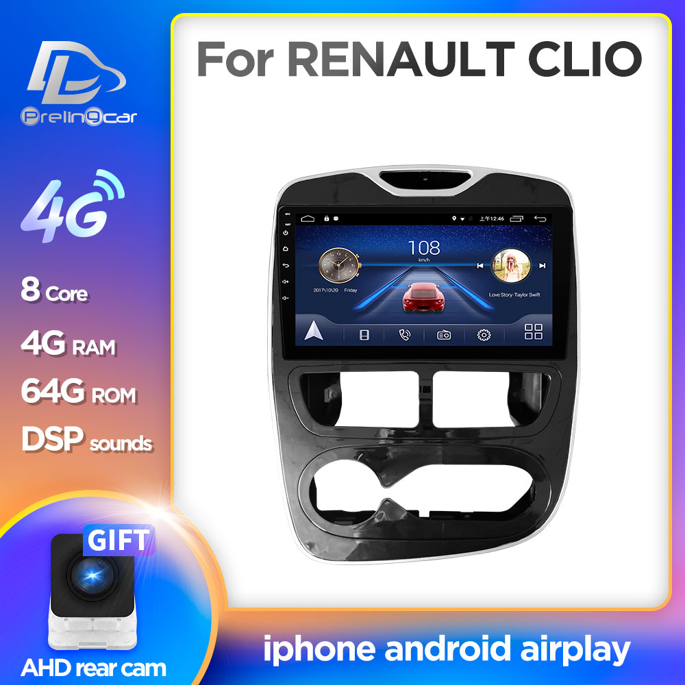 prelingcar For RENAULT CLIO  9 inch  Car monitor Radio Multimedia Video Player Navigation GPS Android 9.0 DSP stereo|Car Monitors| |  - title=