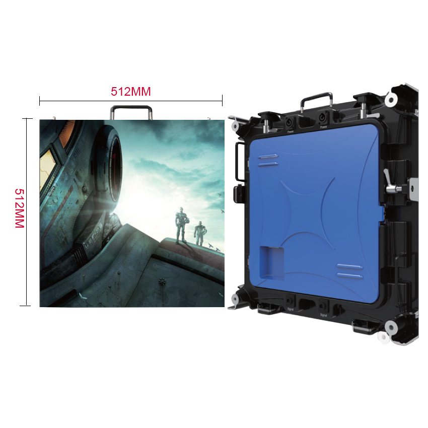 P4 Indoor Accommodates 8pcs Modules 512X512mm Die Casting Aluminium Empty Cabinet For HD Full Color Led Display Screen
