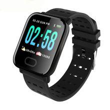 A6 Astuto Guarda con il Monitor di Frequenza Cardiaca Fitness Tracker di Pressione Sanguigna Smartwatch