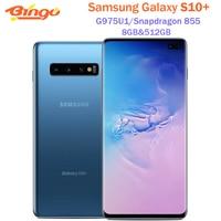Samsung Galaxy S10 + S10 más G975U1 512GB G975U desbloqueado teléfono móvil Snapdragon 855 Octa Core 6,4