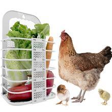 Rabbit Hay Feeder Chicken Vegetable Basket Pet Grass Food Foldable Hanging For Duck Feeding