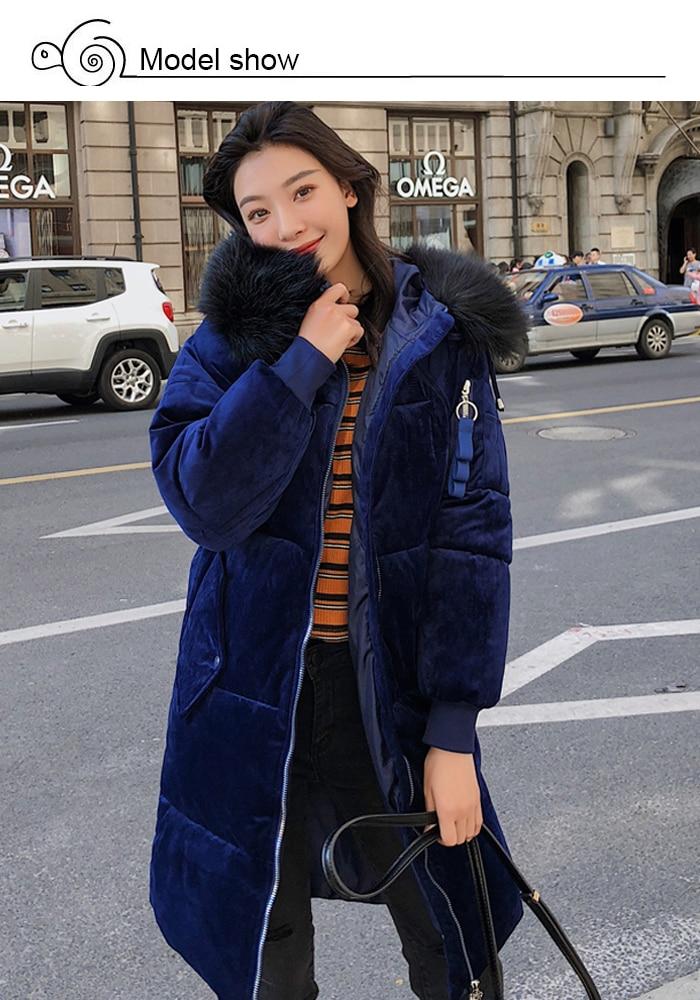 2019 High Quality Winter Jacket Women Velvet Fabric Hooded Thicken Fur_A2_3