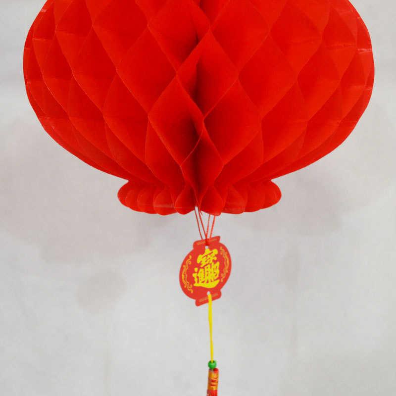 10 ชิ้นพลาสติกสีแดงกระดาษโคมไฟสีแดงแขวนโคมไฟจีนฤดูใบไม้ผลิเทศกาลงานแต่งงานเทศกาลตกแต่ง,10.3 นิ้ว