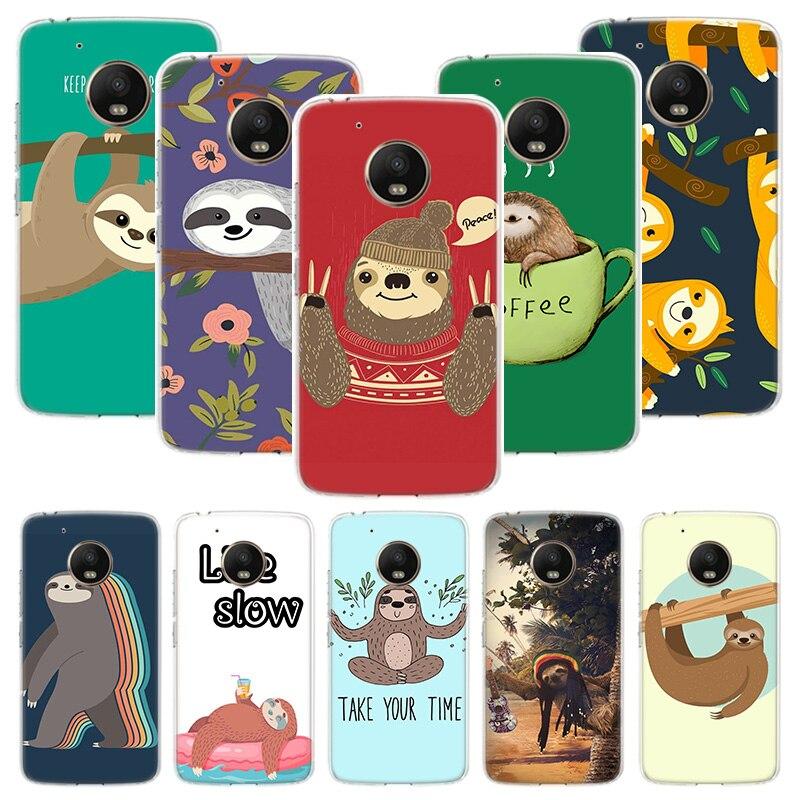 Caffeinated Sloth Animal Case For Motorola Moto G7 G8 G6 G5S G5 E6 E5 E4 Plus Power G4 Play X4 One Action EU Customized Phone Co