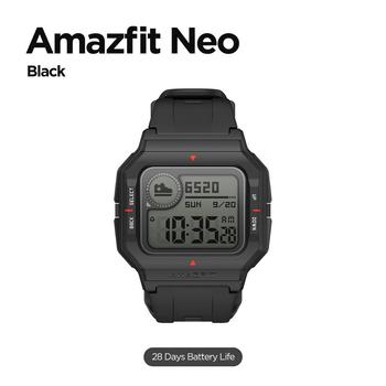 NEW 2020 Amazfit Neo Smart Watch Bluetooth Smartwatch 5ATM Heart Rate Tracking 28Days Battery Life Watch For Android IOS Phone 7