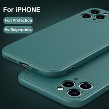 2020 neue Luxus Flüssigkeit Silikon Fall Für iPhone 11 Pro Max 12 Protector Fall Für iPhone X XS MAX XR 7 8 6 6S PLUS SE 2020 Abdeckung