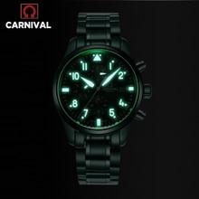 Fashion Pilot Watch CARNIVAL High end Automatic Wat