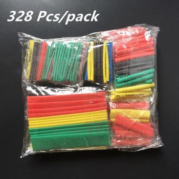 цена на 328PCS Polyolefin Insulation Heat Shrink Tubing Tube Sleeve Wrap Wire Assortment Shrinkable Tube Wrap Wire Cable Sleeves Set