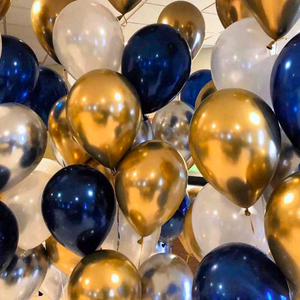 10pcs 10/12 inch Ink Blue/ Dark Blue Ballon Mid Night Navy Blue Balloons Arch Decoration Boys Birthday Party Baby Shower Ballons