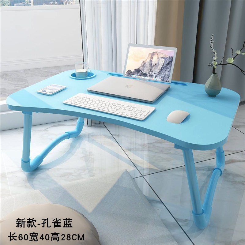 Portable Laptop Table For Bed Folding Study Table Computer Desk Sofa Bed Laptop Table With Folding Leg Home office furniture|Laptop Desks| |  - title=