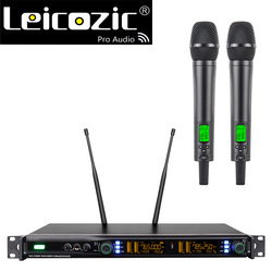 Leicozic Professional Digital Wireless Microphone Handheld Mic 512-588MHz / 740-789MHz True Diversity Wireless Stage Microphone