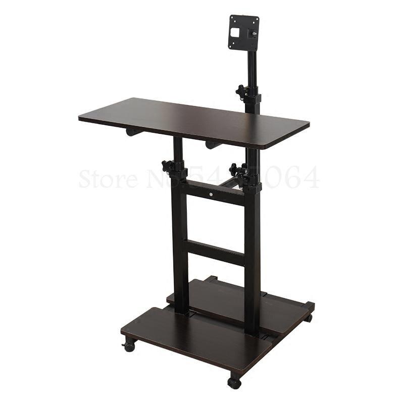 Настенная настольная подъемная компьютерная настольная стойка офисный сидячий мобильный простой компьютерный стеллаж типа D