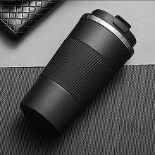 Tasse à café Thermos en acier inoxydable, 380ml/510ml, avec étui antidérapant, flacon sous vide pour voiture, bouteille isolée de voyage