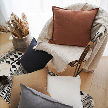 Nordic Simple Sofa Cushion Cover Linen Cotton Brown Grey Pillowcase Decorative Pillows Living Room Bed Office Throw Pillow Cover harry styles decorative pillowcase harry cushion cover cotton linen throw pillows sofa pillow home decor