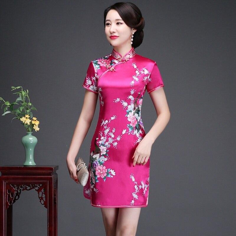 Daily Life New Cheongsam Improved Version nian qing kuan 2019 summer & autumn zhuang GIRL'S Chinese-style Short Dress Dress 3