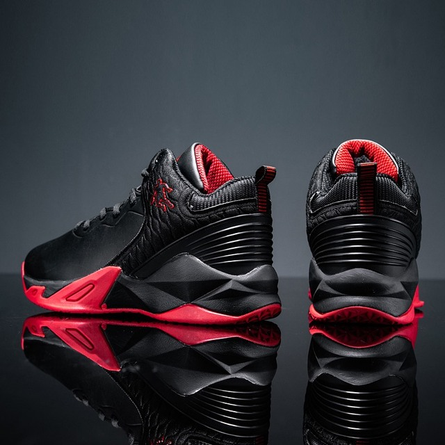 2019 autumn and winter men's basketball shoes junior high school students leather waterproof wear-resistant shock-absorbing boot 1