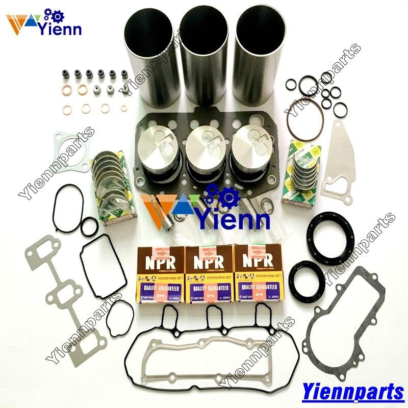 Joint de joint et joint de joint | Pour Yanmar 3YM20 Kit de reconstruction de révision de Piston, cylindre de bague de Piston, pièces de moteur marin 3YM20