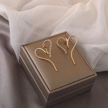 Экстравагантные винтажные золотые Цвет серьги гвоздики Стразы