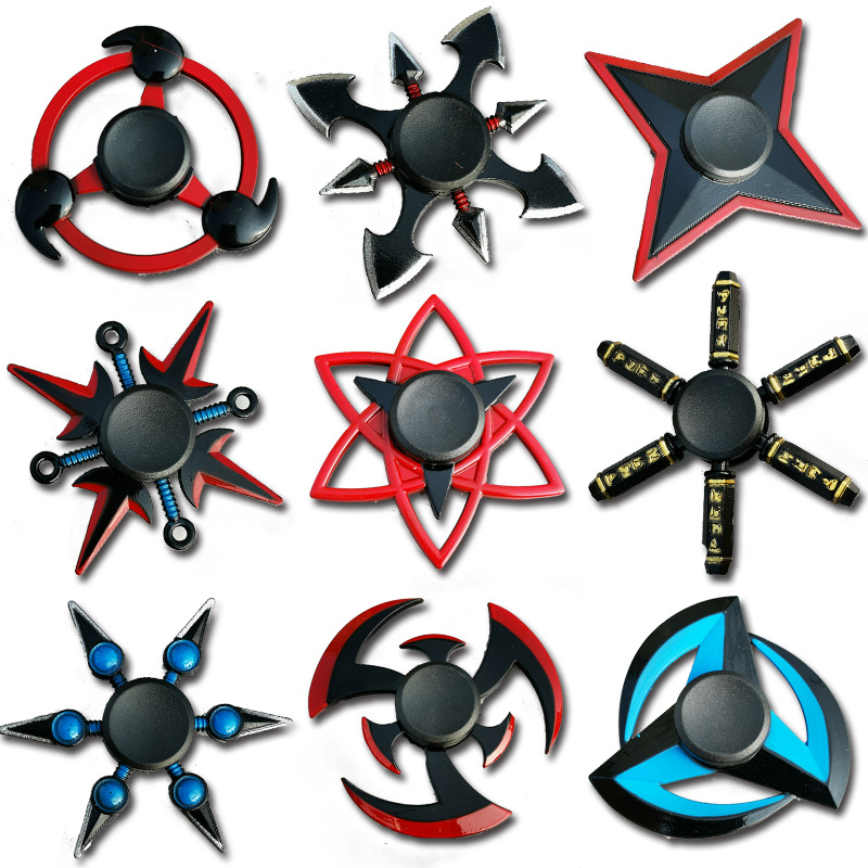 Creative Fidget Spinner Tri Spinner Zinc Alloy NARUTO Ninja Shuriken Sharingan Hand Spinner Finger Stress Reliever Toys For Kids