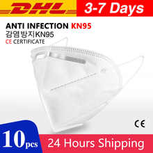 10 pcs N95 Dustproof Anti-fog And Breathable Face Masks 95% Filtration N95 Masks Features as KF94 FFP2