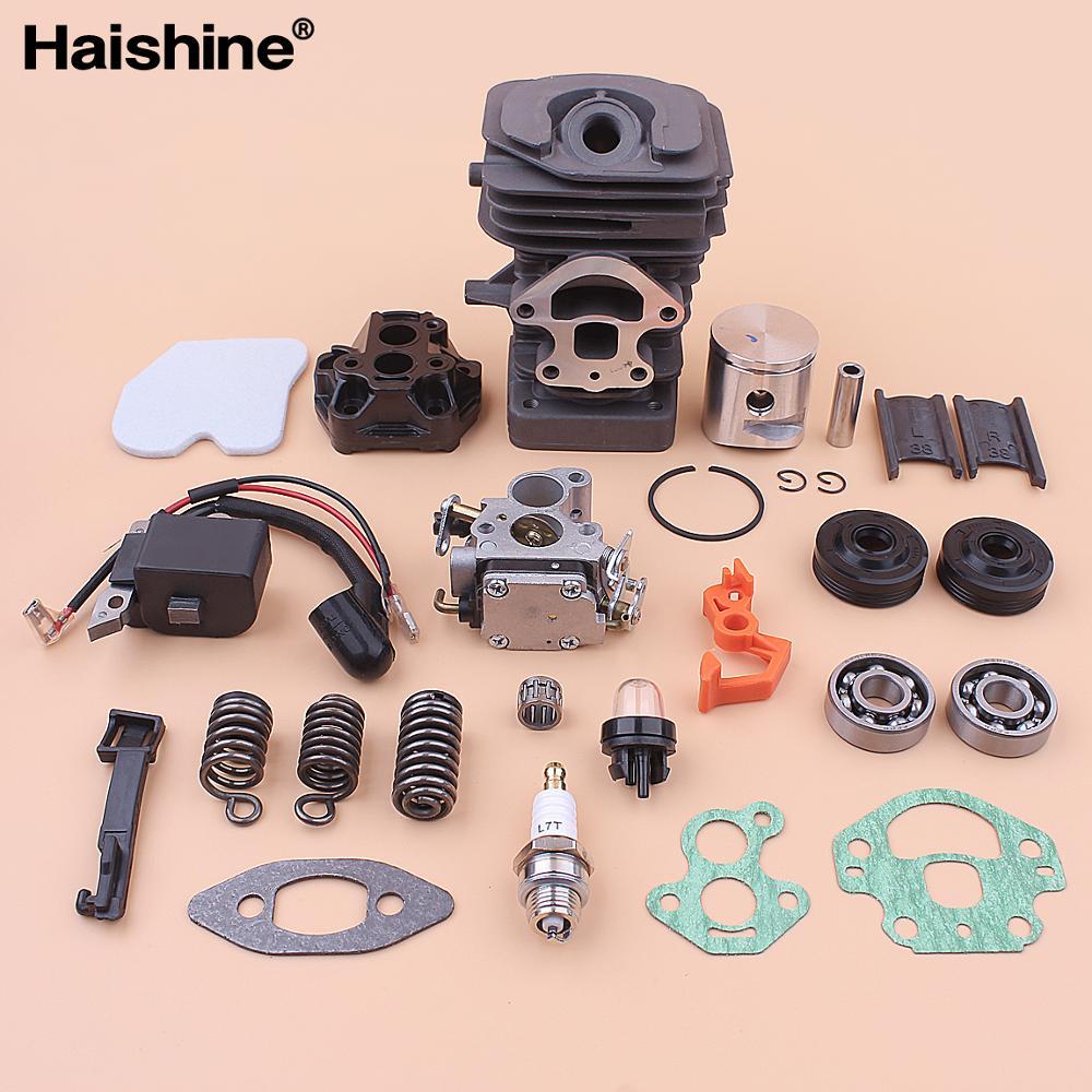 39mm Cylinder Piston Carburetor Ignition Coil Kit For Husqvarna 236 240 236e 240e Intake Boot Buffer Bearing Oil Seal Air Filter
