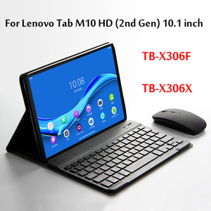Case For Lenovo Tab M10 HD (2nd Gen) 10.1''Tablet Wireless Bluetooth Keyboard TB-X306F TB-X306X Magnetically Detachable Cover