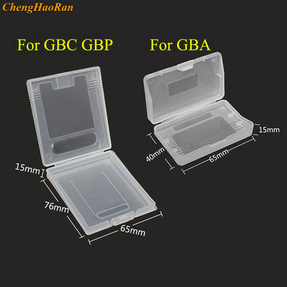 20pcs clear plastic <font><b>cases</b></font> for Nintendo GBC GBP & For gameboy Advance GBA SP <font><b>GBM</b></font> GBA Games Card Cartridge box image