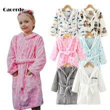 Crianças dos desenhos animados roupão primavera outono crianças sleepwear adorável manga longa meninas e meninos roupão roupas infantis 2-8 ano