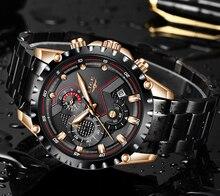 LIGE nouvelle montre hommes Top marque de luxe hommes montres sport plein acier inoxydable étanche affaires Quartz montre Relogio Masculino