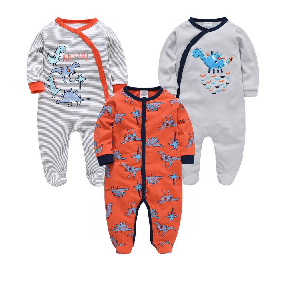 Honeyzone 2020 Newborn <font><b>Baby</b></font> Boy Clothes bebe Cotton Long Sleeve Romper 3 6 9 12m New Body Girls <font><b>Clothing</b></font> Infant Outfit Pajamas image