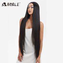 Noble Cosplay peruki dla czarnych kobiet prosto syntetyczna koronka przodu włosów 38 Cal Ombre koronkowa peruka na przód Cosplay blond koronkowa peruka na przód tanie tanio Proste Średni brąz Średnia wielkość Swiss koronki WSF LACE SUPER L-STRAIGHT 255g+258g 150 3 color Long High Temperature Fiber