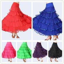 Женская бальная юбка современный танец пачка блесток Вальс Танго