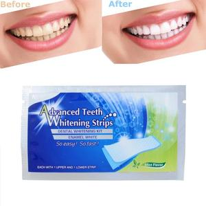 2Pcs/pack White Gel Teeth Whitening Strips Oral Hygiene Care Kit Teeth Strips Whitening Bleaching Tools